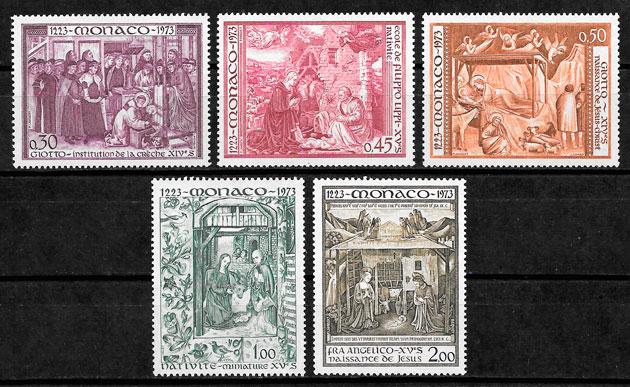 sellos navidad Mónaco 1973