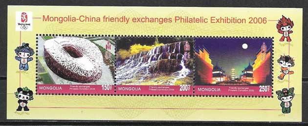 sellos olimpiadas Mongolia 2006
