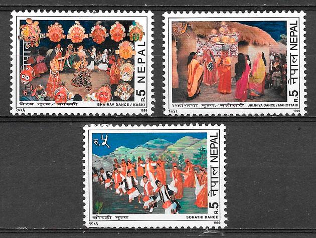 sellos arte Nepal 1999