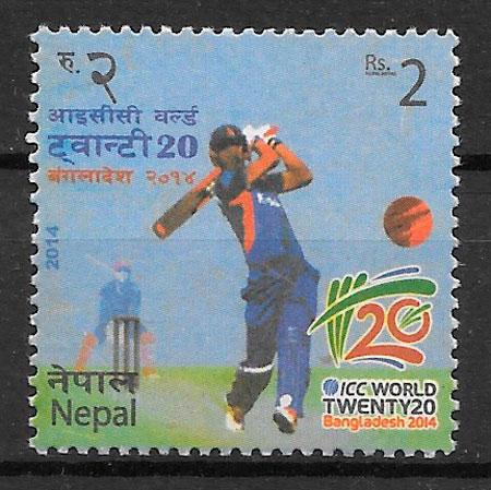 filatelia colección deporte Nepal 2014