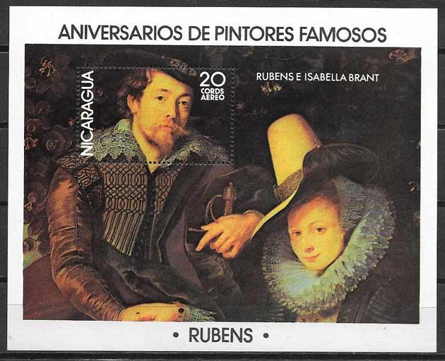 Sellos arte Nicaragua 1978