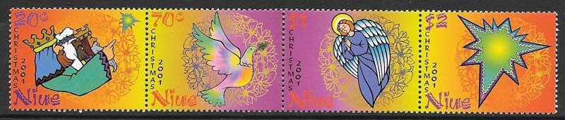 Colección sellos navidad Niue 2001