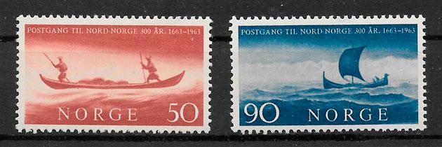 filatelia transporte Noruega 1963