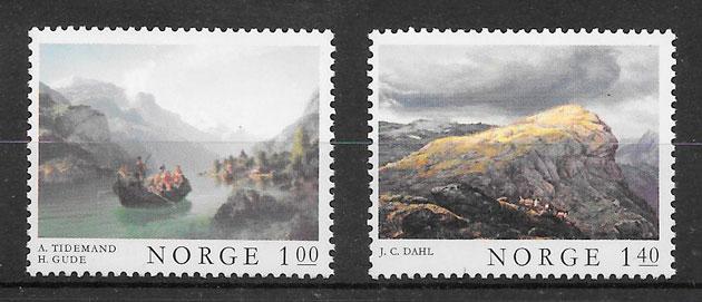 sellos arte Noruega 1974