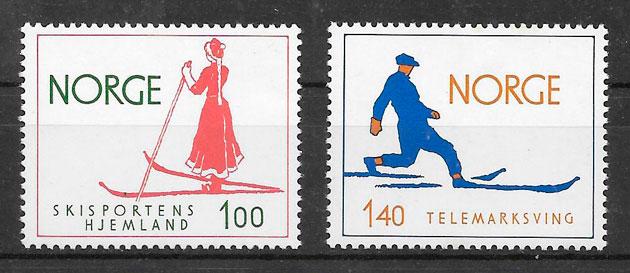 sellos deporte Noruega 1975