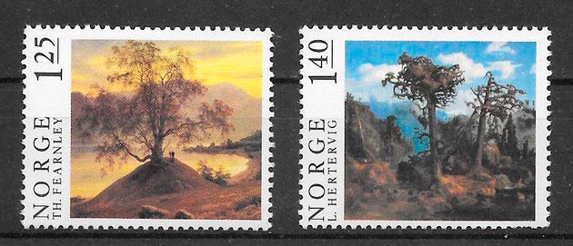 filatelia arte Noruega 1976