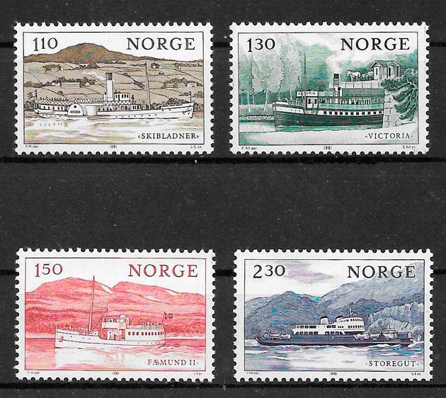 filatelia transporte Noruega 1981