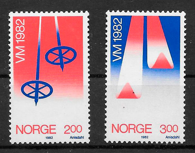 sellos deporte Noruega 1982