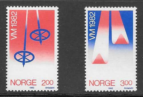 sellos Noruega deporte 1982