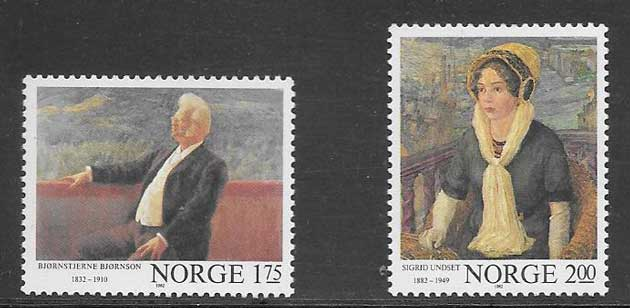 Filatelia Noruega arte 1982