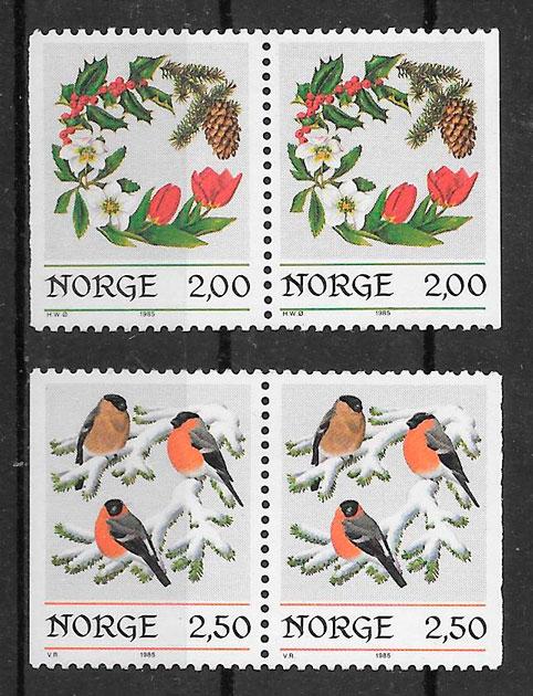 colección sellos navidad Noruega 1985