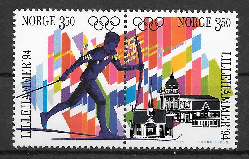 colección sellos deporte Noruega 1993