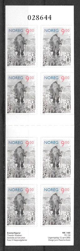 filatelia colección cuentos Noruega 2002