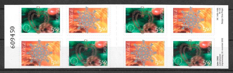 sellos navidad Noruega 2002