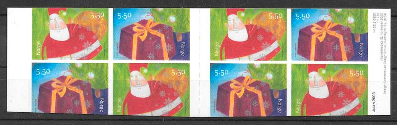 sellos navidad Noruega 2003