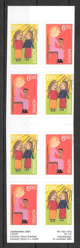 sellos navidad Noruega 2004