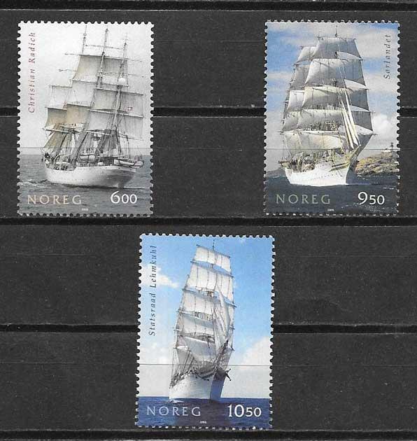 Filatelia veleros Noruega 2005
