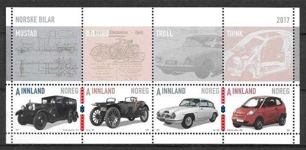 filatelia colección transporte Noruega 2017