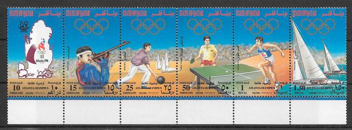 filatelia deporte Qatar 1996