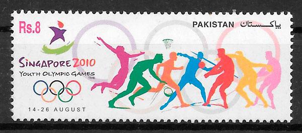 filatelia colección deporte Pakistán 2010