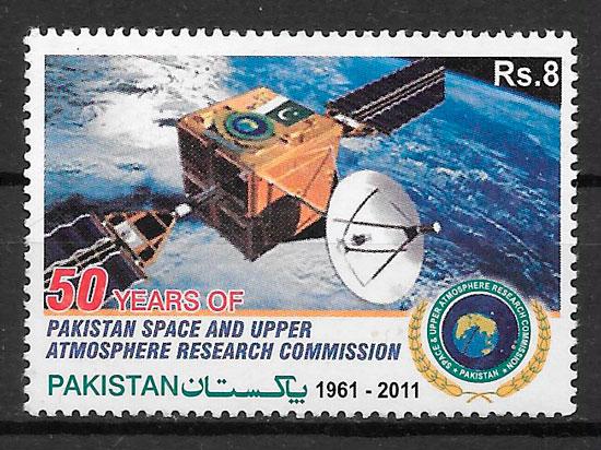 filatelia colección espacio Pakistan 2011