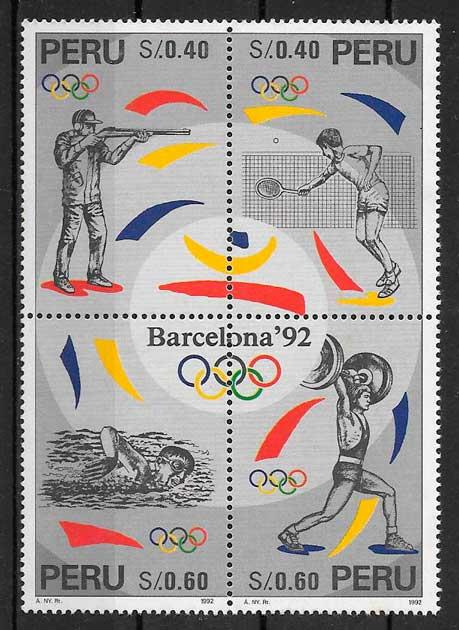 sellos deporte Perú 1992