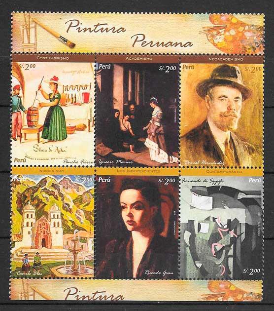 colección sellos arte Perú 2005