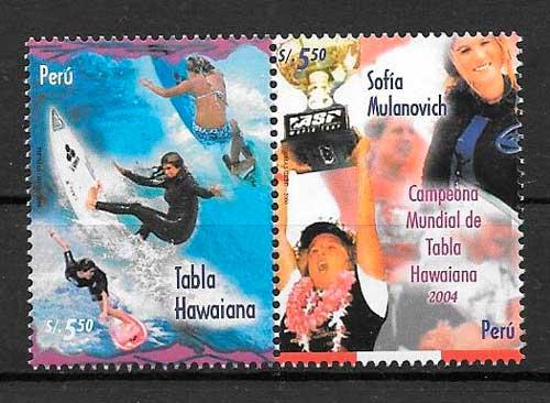 filatelia colección deporte Perú 2006