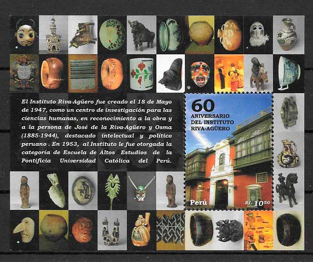 filatelia colección arquitectura Perú 2007