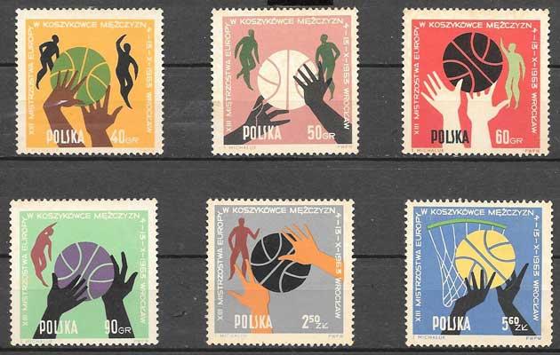 sellos deporte Polonia 1963