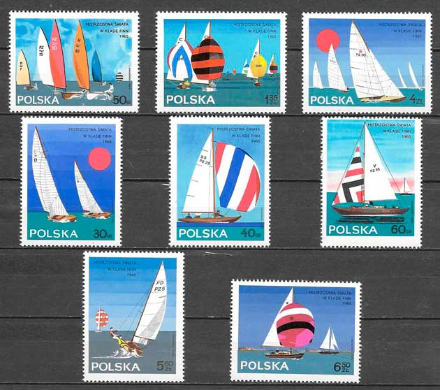 sellos transporte Polonia 1965