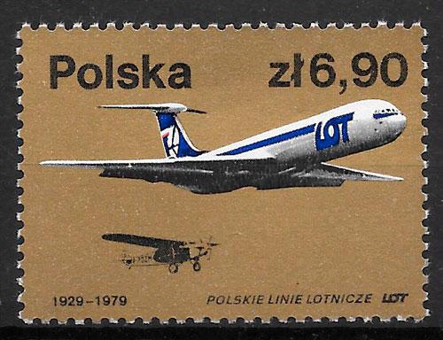 filatelia colección transporte Polonia 1979