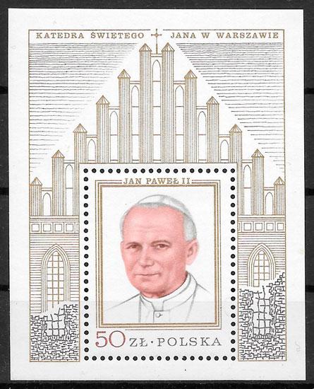 filatelia colección personalidad Polonia 1979