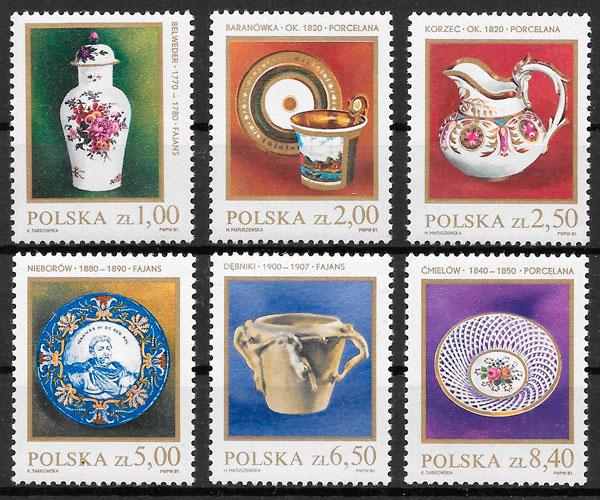 sellos arte Polonia 1981