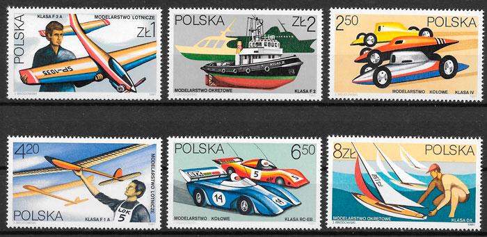 sellos transporte Polonia 1981