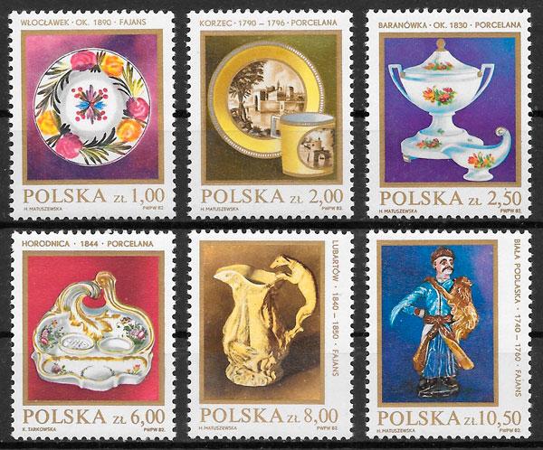 filatelia colección arte Polonia 1982