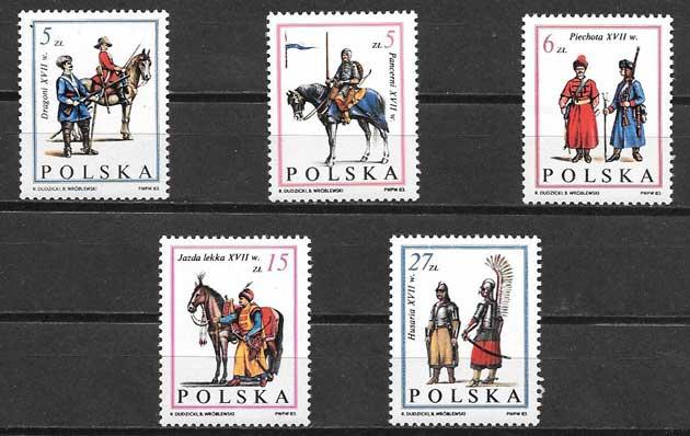 sellos militares Polonia 1983