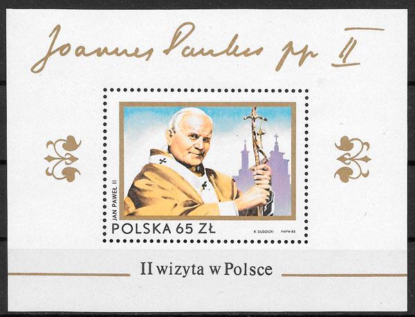 sellos personalidades Polonia 1983