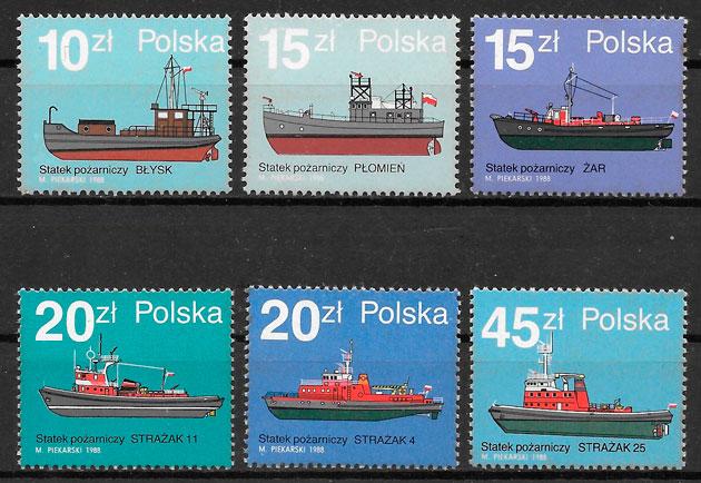 sellos transporte Polonia 1988
