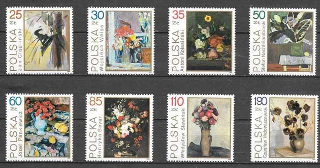 sellos arte Polonia 1989