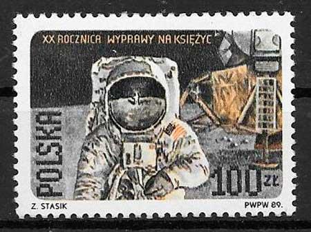 sellos espacio 1989 Polonia