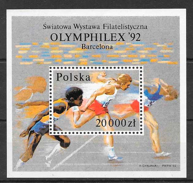 filatelia deporte Polonia 1992