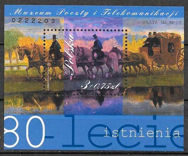 sellos filatelia arte Polonia 2001