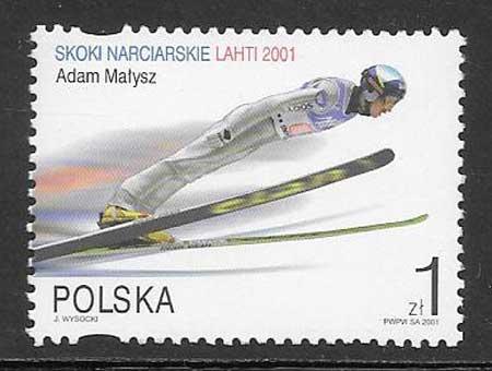 Filatelia deporte Polonia 2001