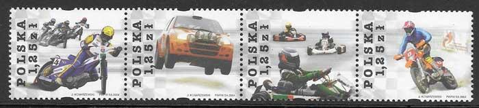 sellos deporte Polonia 2004
