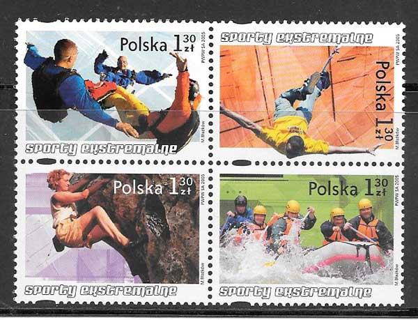 sellos deporte Polonia 2005