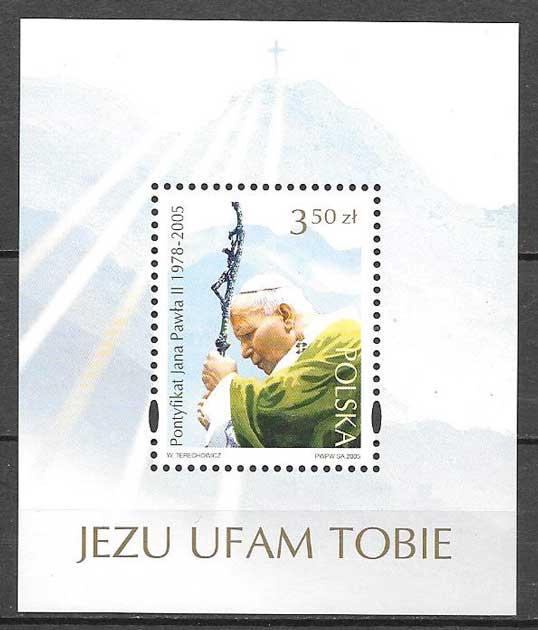 sellos colección personalidad Polonia 2005