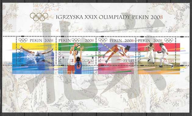 sellos deporte Polonia 2008