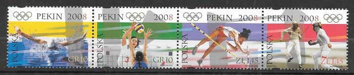 sellos olimpiadas Polonia 2008