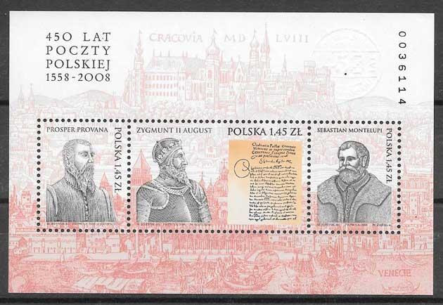 sellos personalidad Polonia 2008